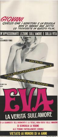 """1968 * Affiches De Cinéma """"Eva, la Verità sull'Amore - Alexander Ford"""" Documentaire (B)"""