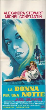 """1967 * Affiches De Cinéma """"La Donna per una Notte - A Stewart, M Constantin"""" Drame (B)"""