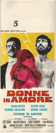 """1970 * Affiches De Cinéma """"Donne in Amore - Ken Russell"""" Drame (B)"""