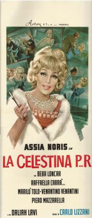 """1965 * Affiches De Cinéma """"La Celestina P...R... - Assia Noris, R Carrà"""" Comédie (B)"""