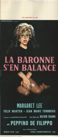 """1965 * Affiches De Cinéma """"La Baronne s'en Balance - Silvio Siano, De Filippo"""" Comédie (B)"""
