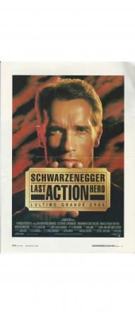 """1993 * Mini Affiches De Cinéma """"Last Action Hero - Schwarzenegger"""" Action (B+)"""