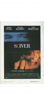 "1993 * Mini Affiches De Cinéma ""Sliver - Sharon Stone"" Thriller (B+)"
