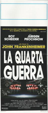 """1990 * Affiches De Cinéma """"La Quarta Guerra - J Frankenheimer"""" Drame (B+)"""