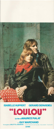 """1980 * Affiches De Cinéma """"Loulou -  Gérard Depardieu"""" Drame (B+)"""