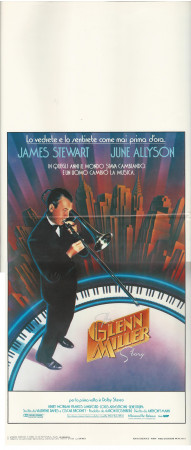 "1985 * Affiches De Cinéma ""The Glenn Miller Story - James Stewart"" Musical-Biographique (B)"