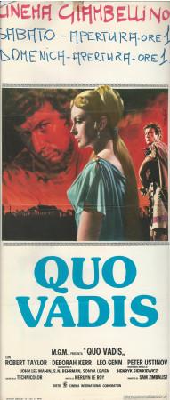 "1951 * Affiches De Cinéma ""Quo Vadis - Robert Taylor"" Peplum (B-)"