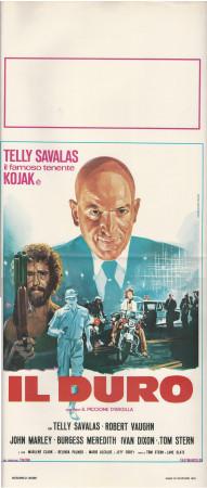 """1981 * Affiches De Cinéma """"Il Duro, Il Piccione d'Argilla - Telly Savalas"""" Policier (B+)"""