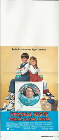 "1992 * Affiches De Cinéma ""Piccola Peste Torna a far Danni - J Ritter"" Comedy (B+)"