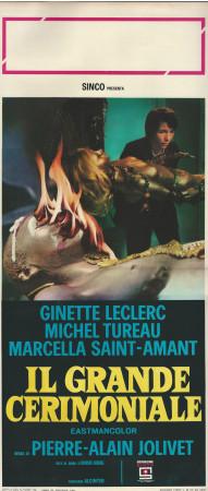 """1969 * Affiches De Cinéma """"Il Grande Cerimoniale - Ginette Lecler"""" Drame (B+)"""