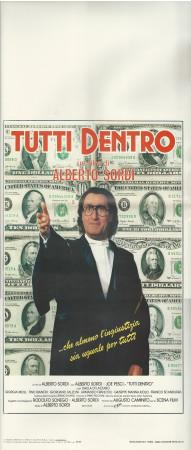 """1984 * Affiches De Cinéma """"Tutti Dentro - Alberto Sordi, D Di Lazzaro"""" Comedy (B+)"""