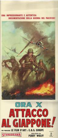 "1961 * Affiches De Cinéma ""Ora X, Attacco al Giappone - Perry Wolff"" Guerre (B)"