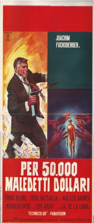"""1967 * Affiches De Cinéma """"Per Cinquantamila Maledetti Dollari - Erika Blanc"""" Espionnage (B+)"""
