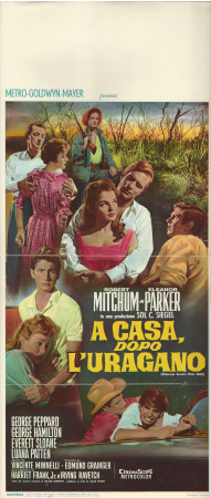 """(1960) * Affiches De Cinéma """"A Casa dopo l'Uragano - R Mitchum, E Parker"""" Drame (B)"""