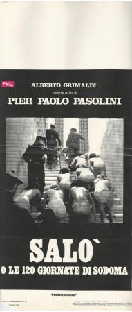 """1976 * Affiches De Cinéma """"Salò o le 120 Giornate di Sodoma - Pasolini"""" Drame (C)"""