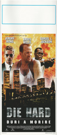 """1995 * Affiches De Cinéma """"Die Hard, Duri a Morire - B Willis, SL. Jackson"""" Action (B+)"""