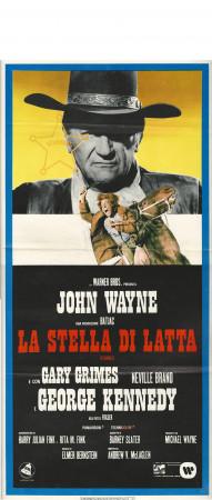 "1973 * Affiches De Cinéma ""La Stella di Latta - John Wayne"" Western (B-)"