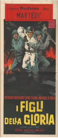 """1962 * Affiches De Cinéma """"I Figli della Gloria - Richard Basehart"""" Guerre (B)"""