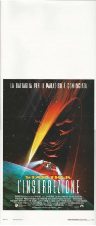 """1999 * Affiches De Cinéma """"Star Trek L'insurrezione - Jonathan Frakes"""" Fantastique (B+)"""
