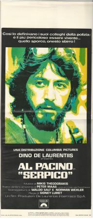 "(1973) * Locandina Cinema ""Serpico - Sidney Lumet, Al Pacino"" Poliziesco (B+)"