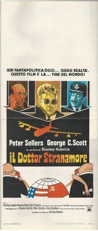 """ND (1964) * Affiches De Cinéma """"Il Dottor Stranamore - Stanley Kubrick, Peter Sellers"""" Comedy (B+)"""