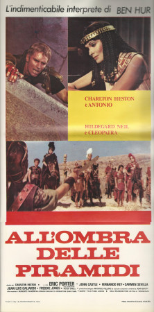 """1972 * Affiches De Cinéma """"Antoine et Cléopâtre - Charlton Heston"""""""