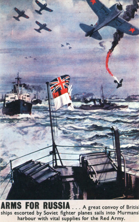"ND (WWII) * Propagande de Guerre Reproduction ""Gran Bretagna - Armi Per La Russia"" dans Passepartout"