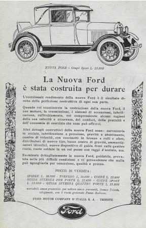"""1928 * Publicité Original """"Ford - Coupè Sport"""" dans Passepartout"""