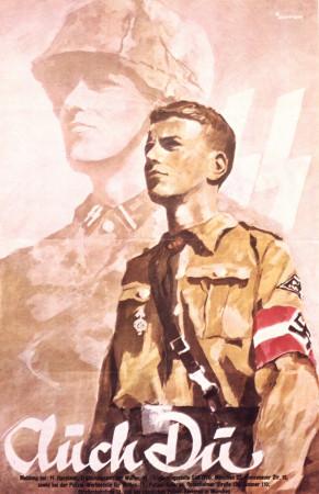 "ND (WWII) * Propagande de Guerre Reproduction ""Germania - Anche Tu"" dans Passepartout"