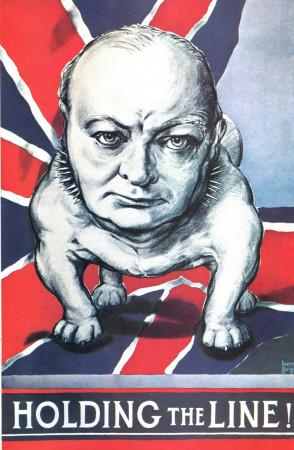 "ND (WWII) * Propagande de Guerre Reproduction ""Gran Bretagna - Tenete Duro!"" dans Passepartout"
