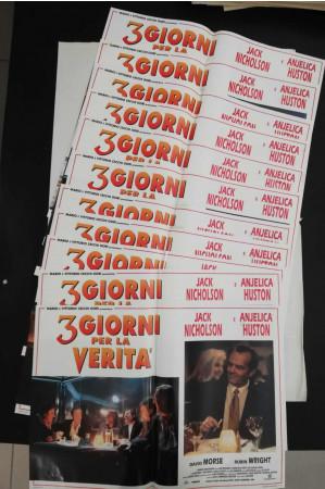 """1995 * Set 10 Affiches De Cinéma """"3 Giorni per la Verità - Sean Penn, Jack Nicholson"""" Drame (B)"""