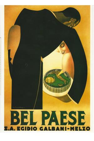 """Publicité """"Formaggio Bel Paese - Galbani, Melzo - R. F. Quillio"""" Reproduction"""