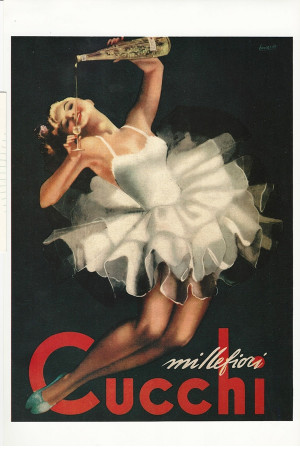 "Publicité ""Millefiori Cucchi - Gino Boccasile"" Reproduction"