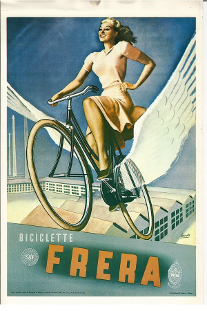 "Publicité ""Biciclette FRERA - Gino Boccasile"" Reproduction"