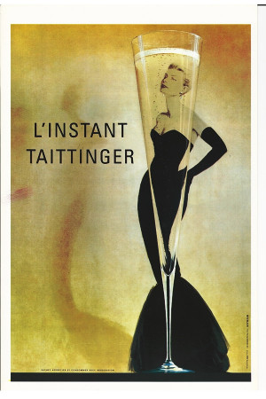 "Publicité ""L'Instant Taittinger - Champagne - Grace Kelly"" Reproduction"