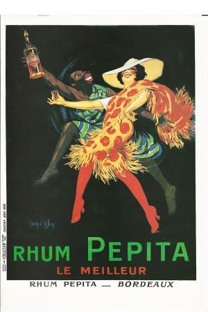 """Publicité """"Rhum Pepita, Bordeaux - Dylen"""" Reproduction"""
