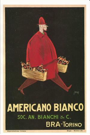 """Publicité """"Americano Bianco, Bra Torino - MAGA"""" Reproduction"""