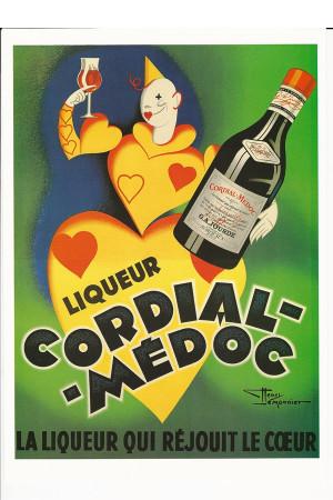 """Publicité """"Cordial Medoc, Liqueur - Henri LeMonnier"""" Reproduction"""