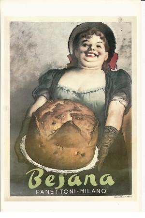 "Publicité ""Besana Panettoni, Milano - Gino Boccasile"" Reproduction"
