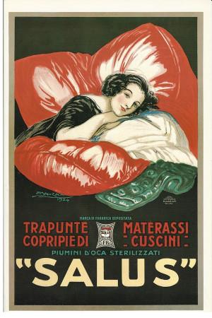 """Publicité """"SALUS Trapunte, Materassi - Mauzan"""" Reproduction"""