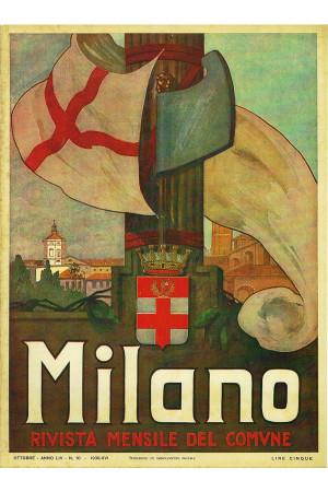 """Illustration """"MILANO, Rivista del Comune - Ventennio"""" Reproduction"""