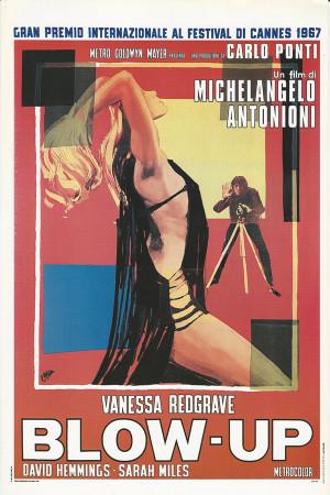 """Affiches De Cinéma """"Blow-Up - M Antonioni, Vanessa Redgrave"""" Reproduction Comédie"""