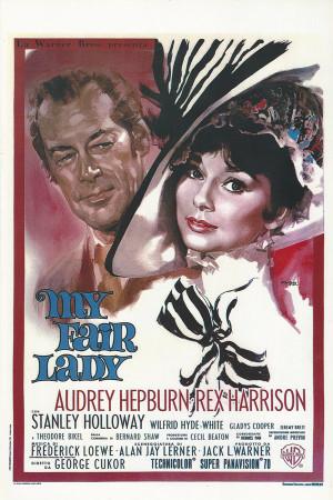 """Affiches De Cinéma """"My Fair Lady - Audrey Hepburn, Rex Harrison"""" Reproduction Comédie/Musical"""