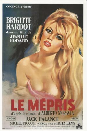 """Affiches De Cinéma """"Le Mepris (Il Disprezzo) - Brigitte Bardot"""" Reproduction Drame"""