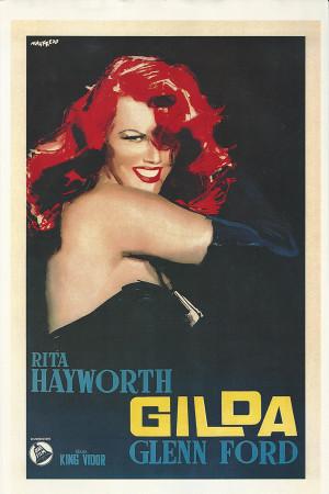 "Affiches De Cinéma ""Gilda - Rita Hayworth, Glenn Ford"" Reproduction Drame"
