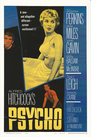 """Affiches De Cinéma """"Psycho (Psyco) - Alfred Hitchcock"""" Reproduction Thriller"""