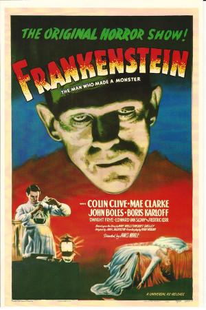 """Affiches De Cinéma """"Frankenstein - Colin Clive, Mae Clarke, John Boles"""" Reproduction Horreur"""