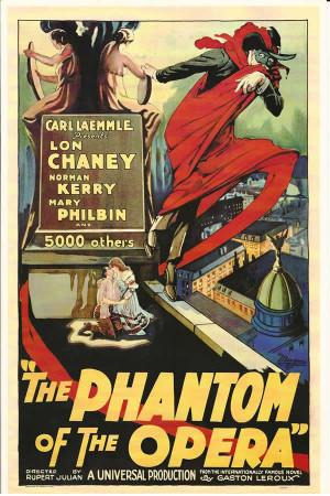 """Affiches De Cinéma """"Il Fantasma dell'Opera (The Phantom of the Opera) - Rupert Julian"""" Reproduction Horreur"""