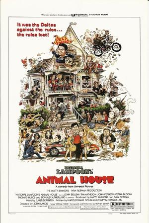 """Affiches De Cinéma """"Animal House - John Landis, John Belushi, Tim Matheson"""" Reproduction Comédie"""