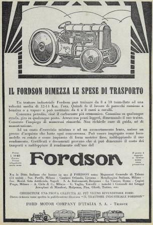 "1928 * Publicité Original ""Forson - Dimezza Le Spese di Trasporto"" dans Passepartout"